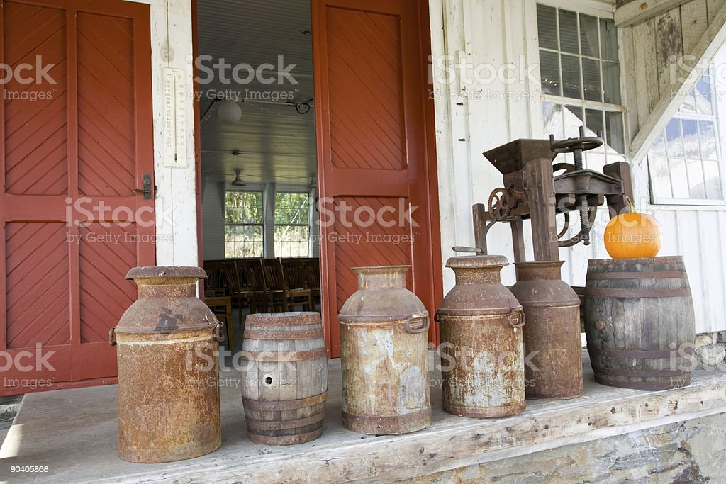 Old-Fashioned Milk Jugs royalty-free stock photo