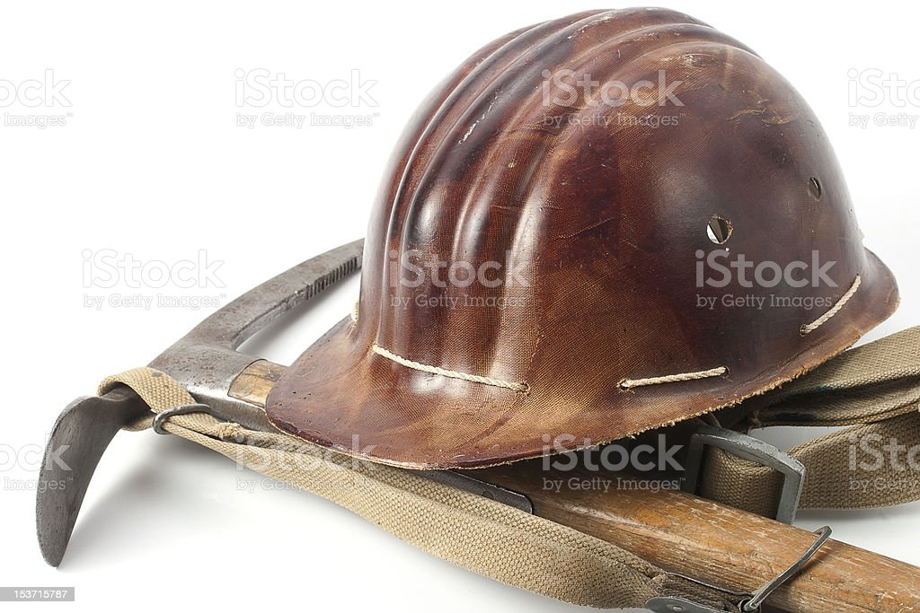 old-fashioned mountaineer's equipment royalty-free stock photo