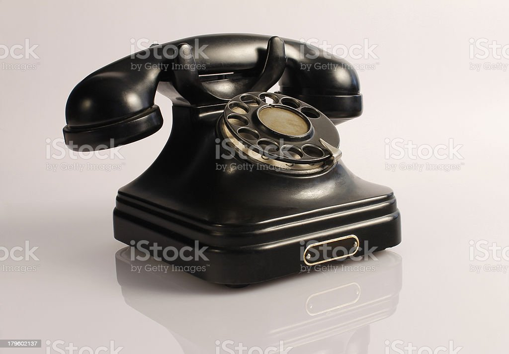 Old-fashioned phone stock photo