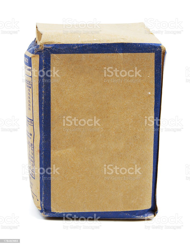 Old-fashioned tea paper box royalty-free stock photo