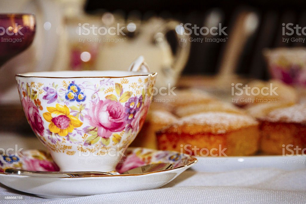 Old-fashioned tea party stock photo