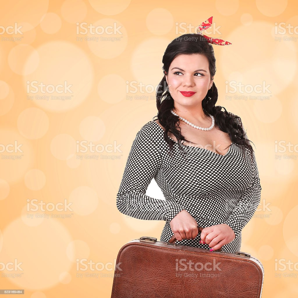 Old-fashioned traveller stock photo