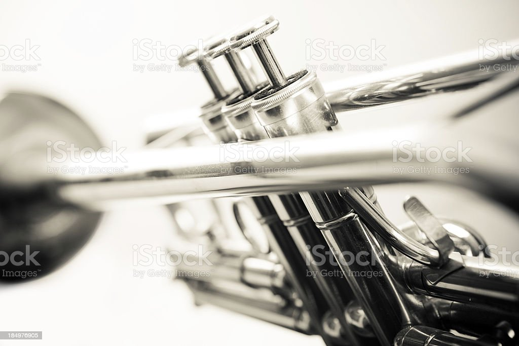 Old-fashioned Trumpet royalty-free stock photo