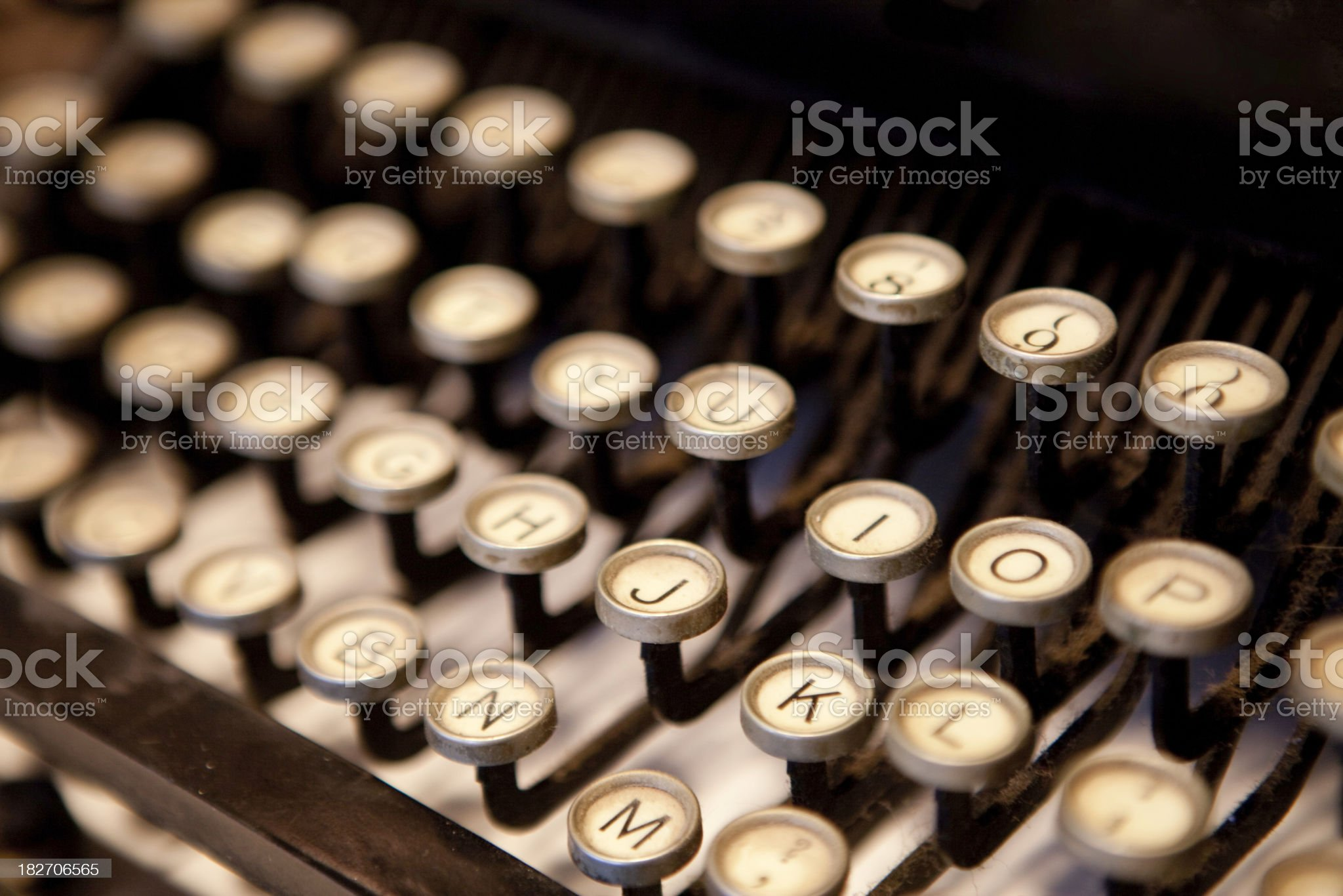 Old-Fashioned Typewriter royalty-free stock photo