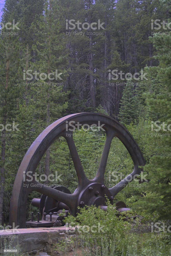 OldFlyWheel stock photo