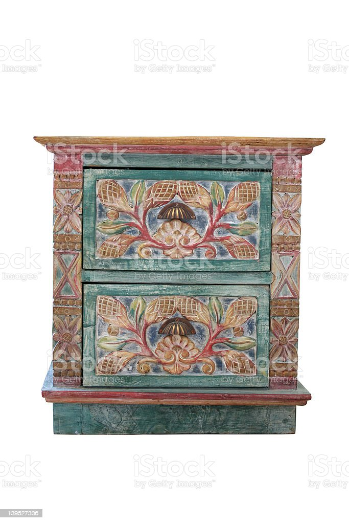 Old-Looking Chest of Drawers stock photo