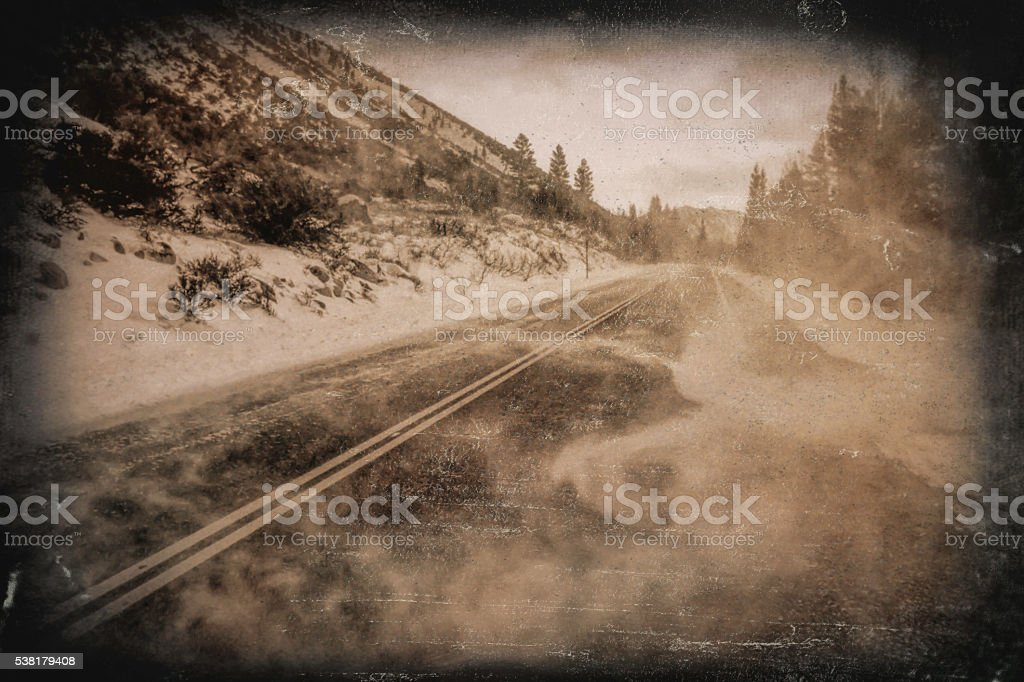 OldMountain Highway stock photo