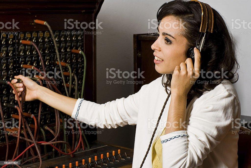 Oldschool Telephone Operator stock photo