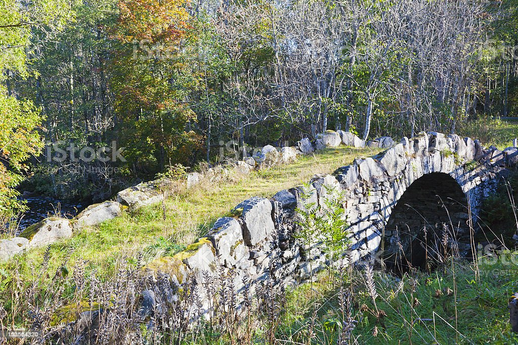 Oldstone  arch bridge royalty-free stock photo