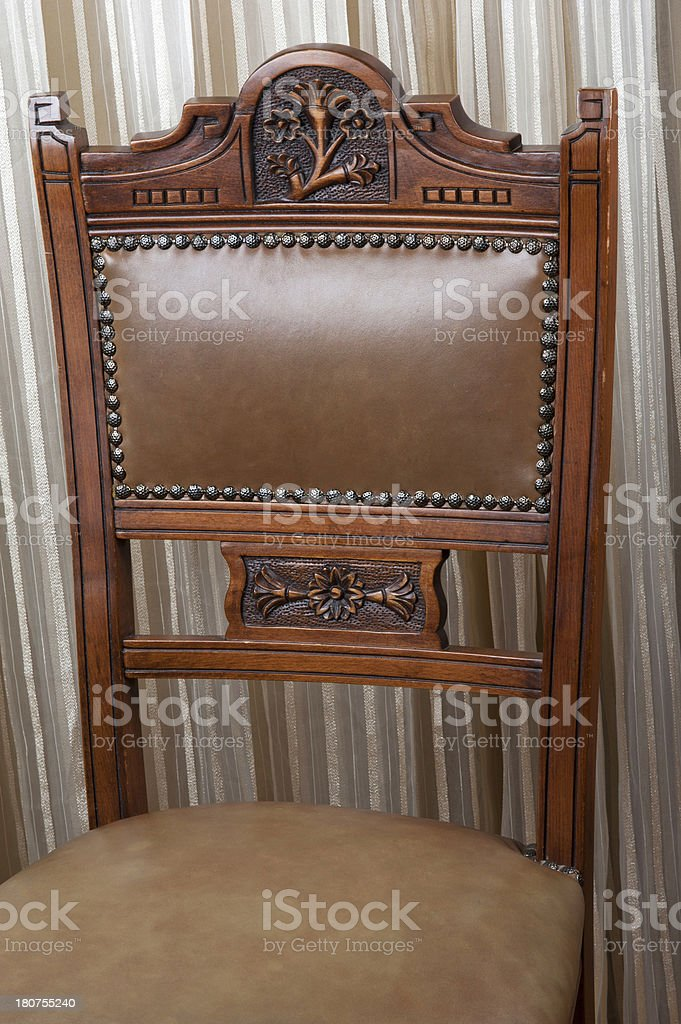 Old-style chair leather stock photo
