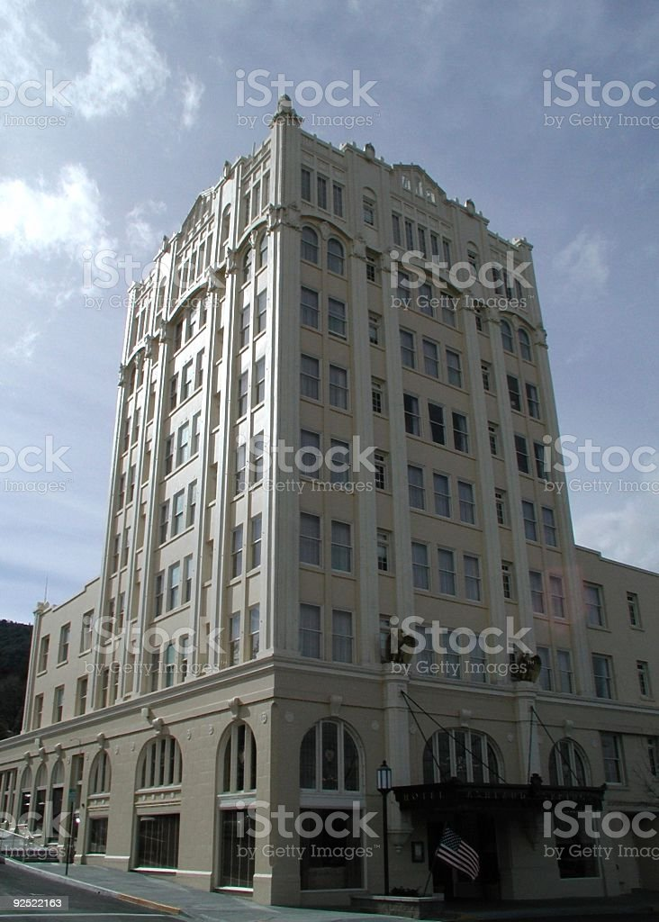 old-style hotel royalty-free stock photo
