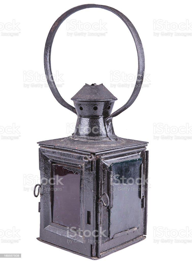 old-style lantern stock photo