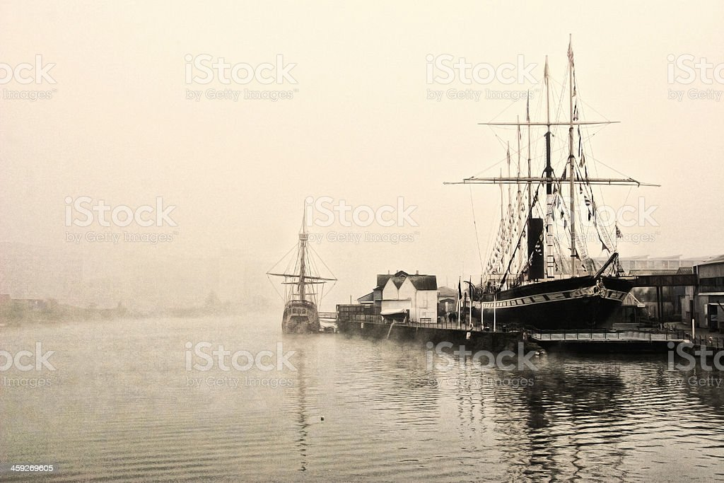 Old-style Photo Of The River At Bristol royalty-free stock photo
