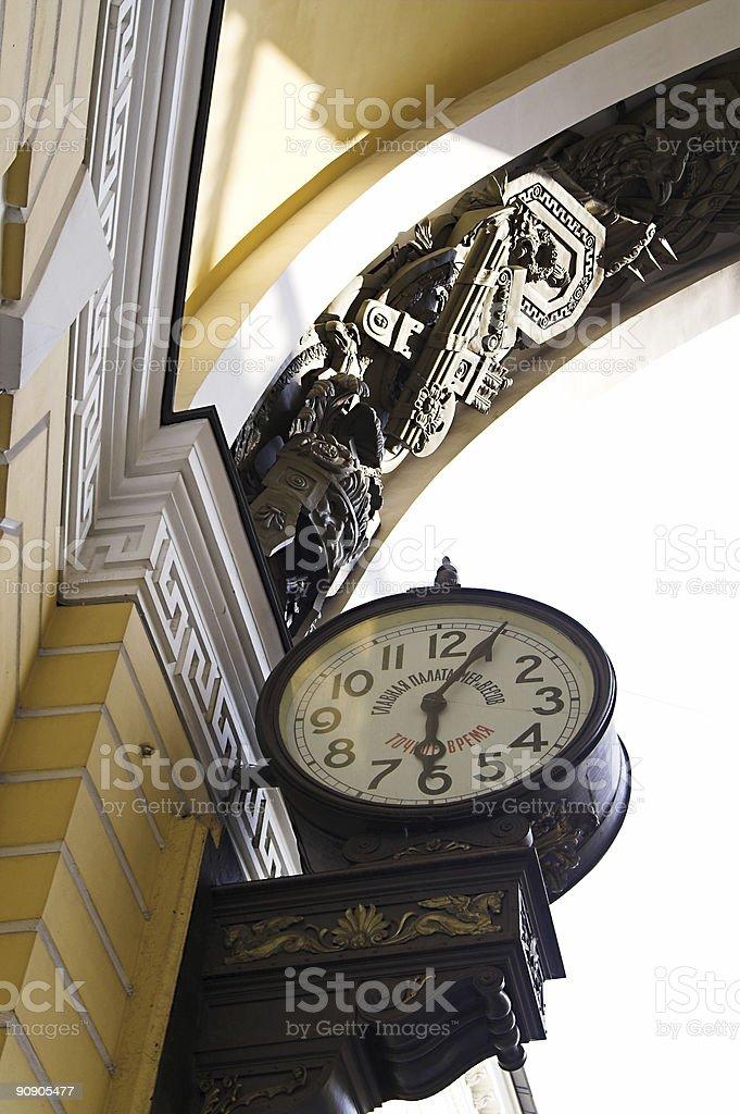 Old-style Public Clocks - 2 royalty-free stock photo