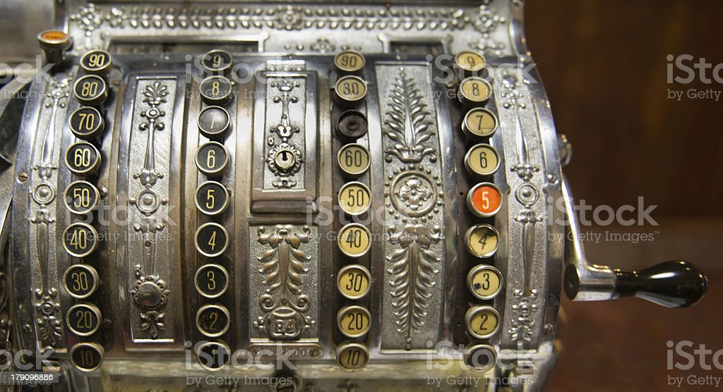 Old-time Cash Register (XXL) royalty-free stock photo