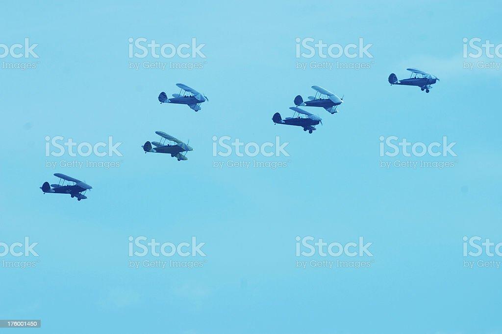 Oldtimer air parade royalty-free stock photo