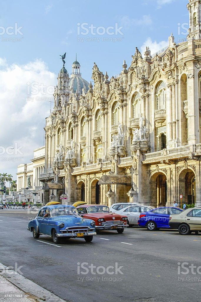 Oldtimer in Havana Cuba stock photo