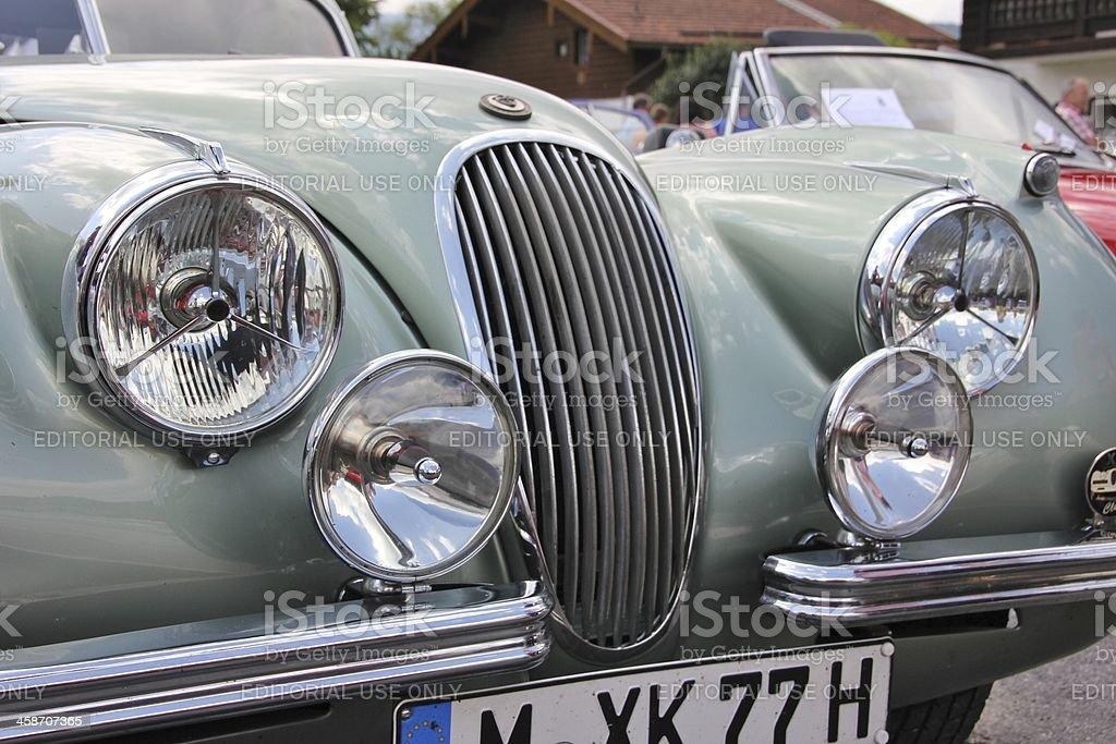 Oldtimer Jaguar XK royalty-free stock photo