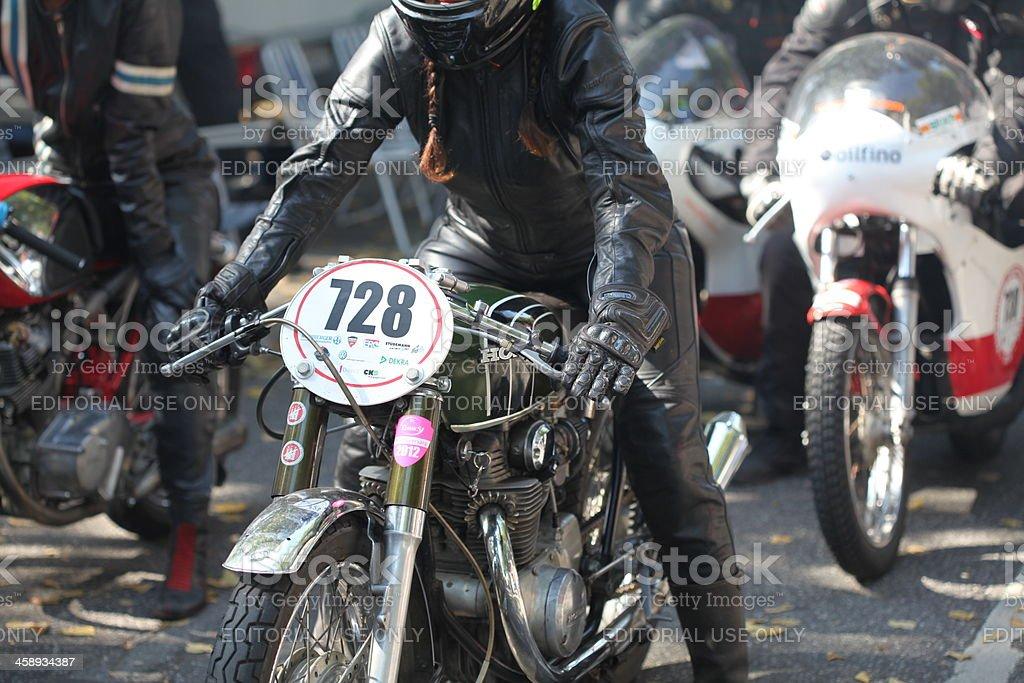 Oldtimer motorcycle royalty-free stock photo