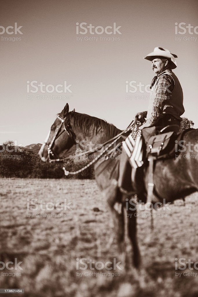 Old-timey Cowboy royalty-free stock photo