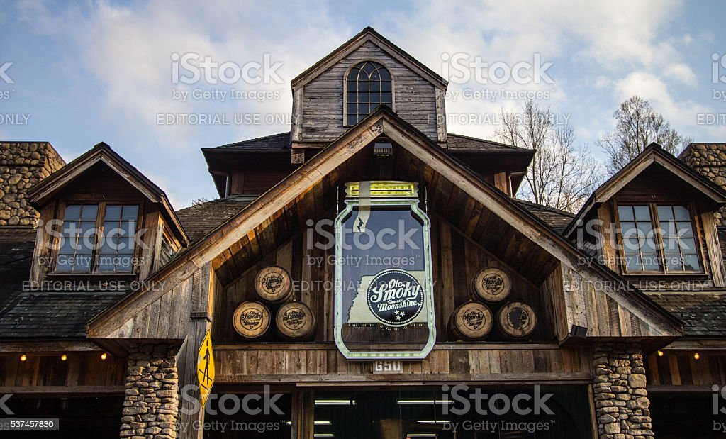 Ole Smoky Mountain Moonshine stock photo
