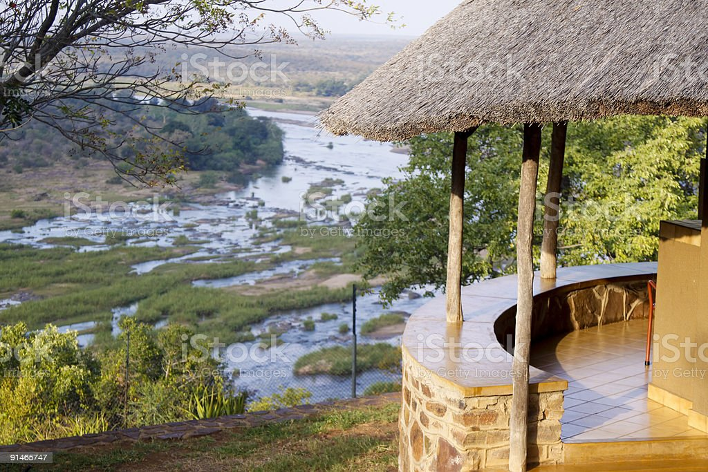 Olifants camp in Kruger Park, South Africa stock photo