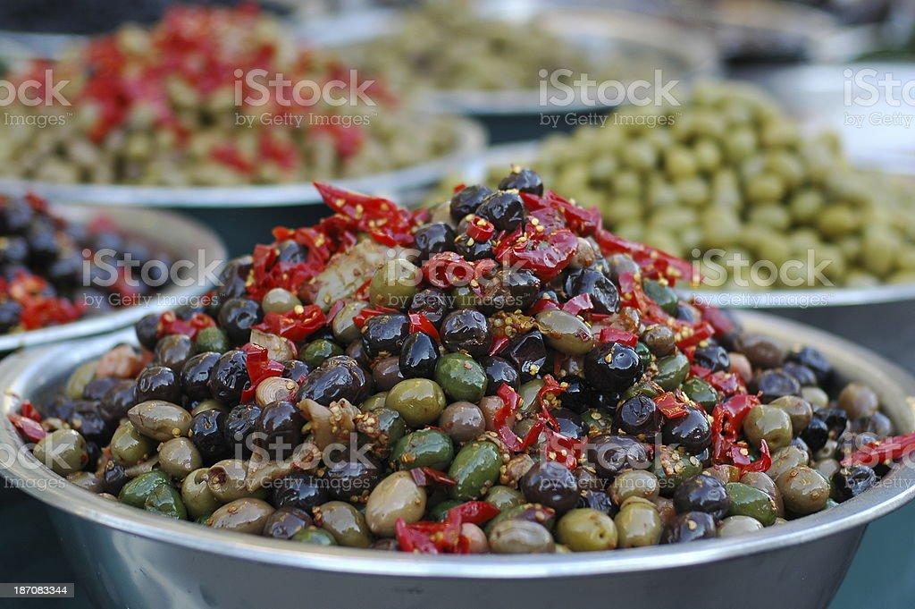 Olive al peperoncino stock photo