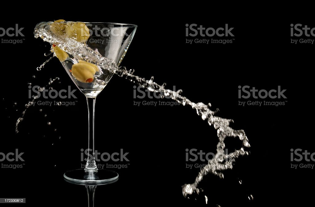 olive and martini, royalty-free stock photo