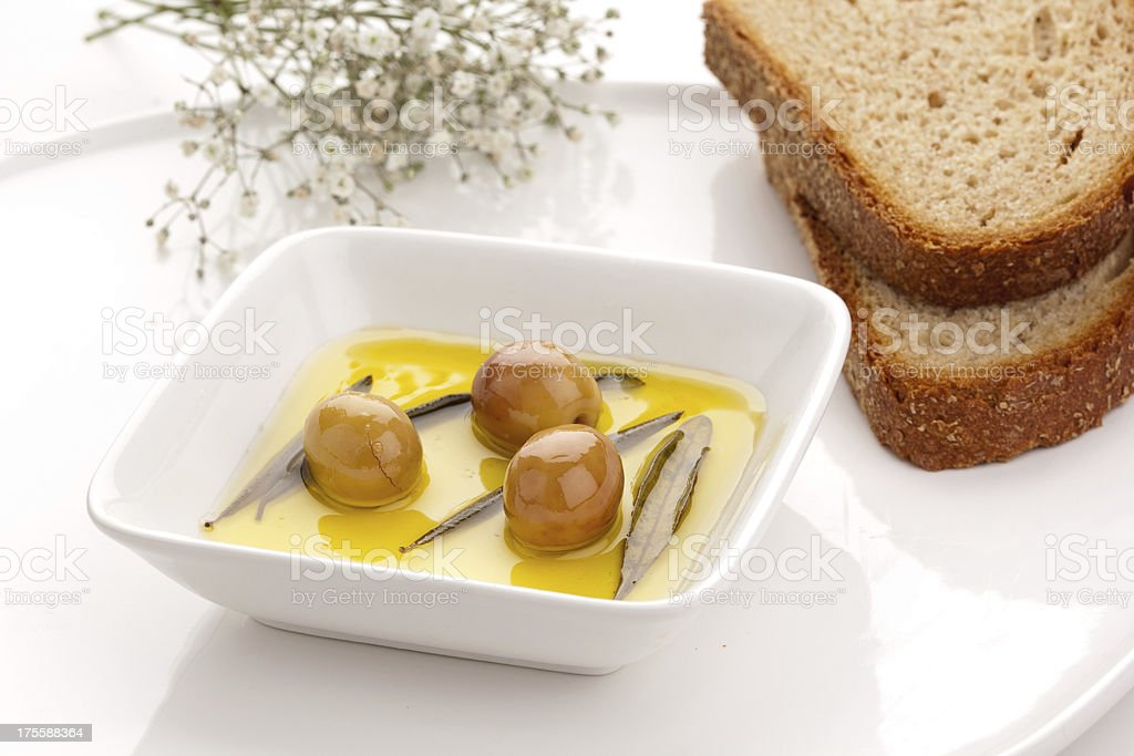 olive and oil royalty-free stock photo