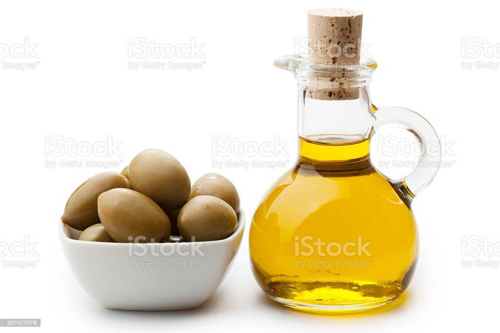 Olive and olive oil stock photo