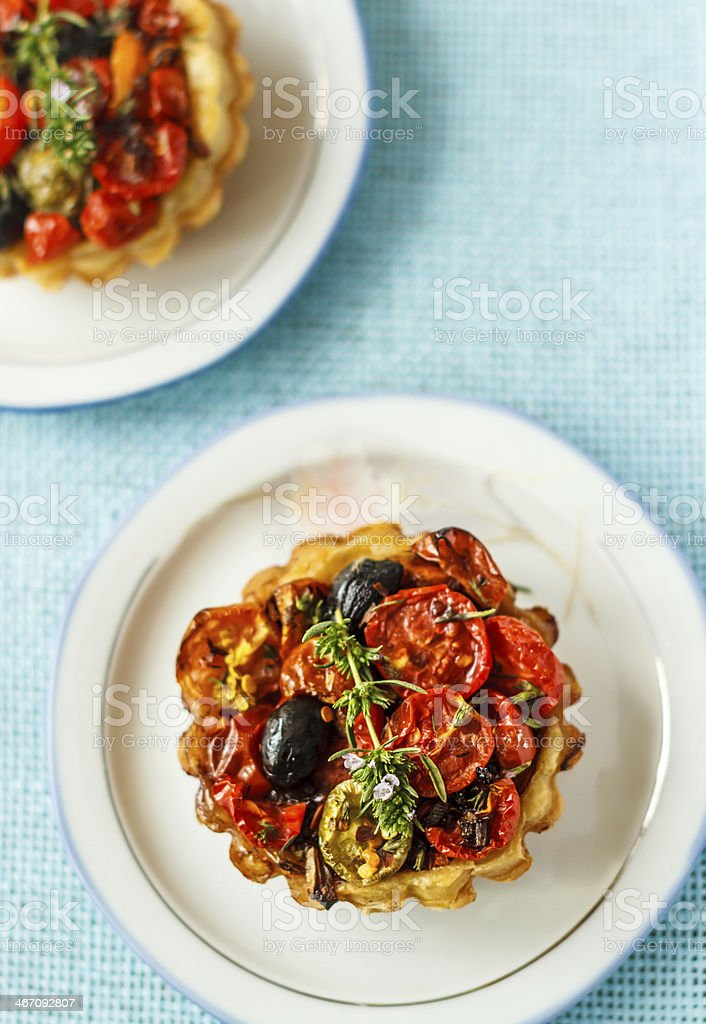 olive and tomato tart royalty-free stock photo