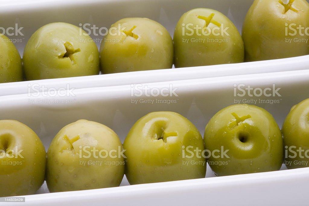 Olive appetizer stock photo
