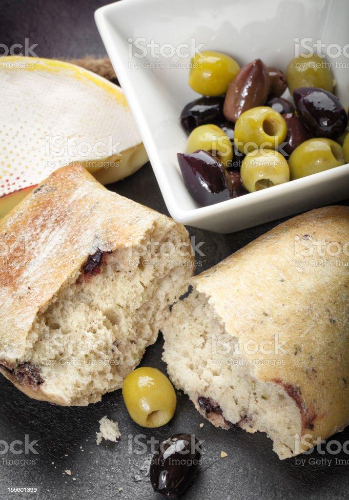 Olive Bread Appetizer stock photo