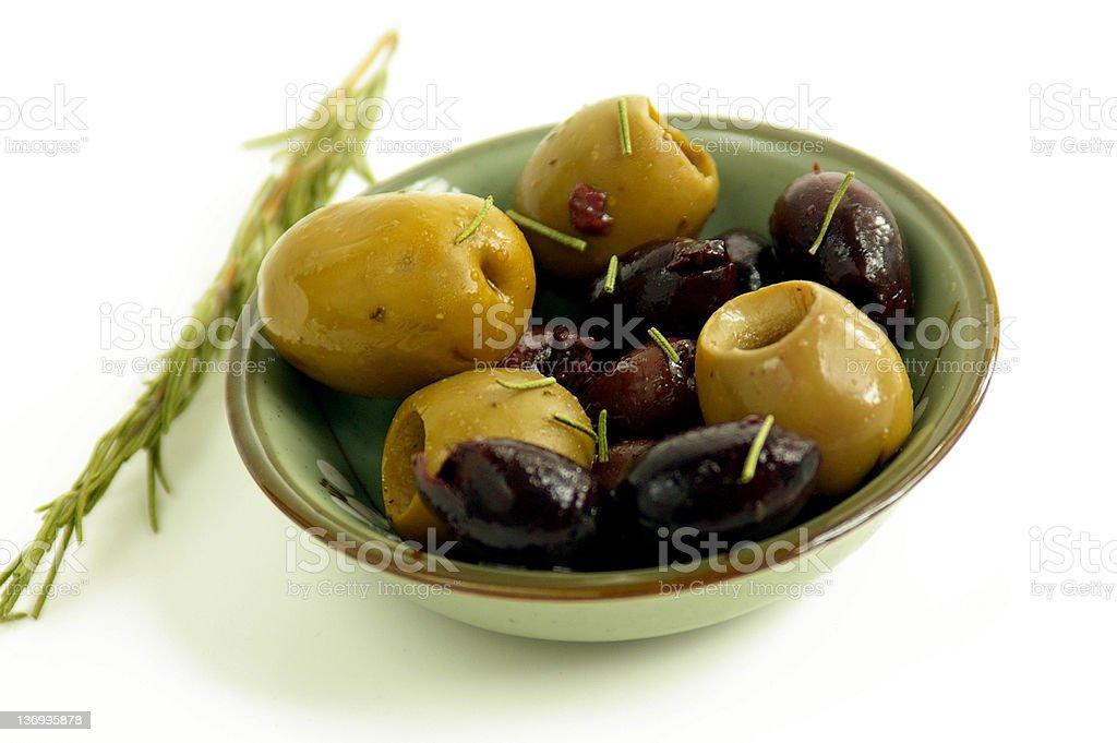 Olive dish royalty-free stock photo