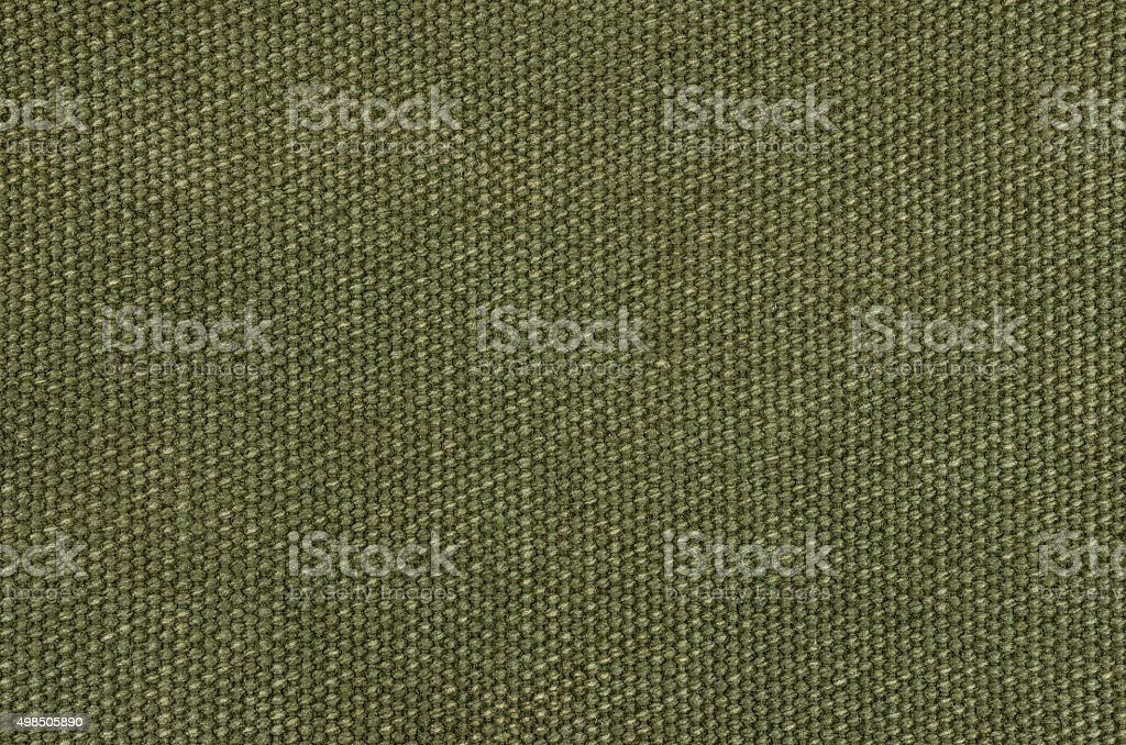 Olive green cotton texture stock photo