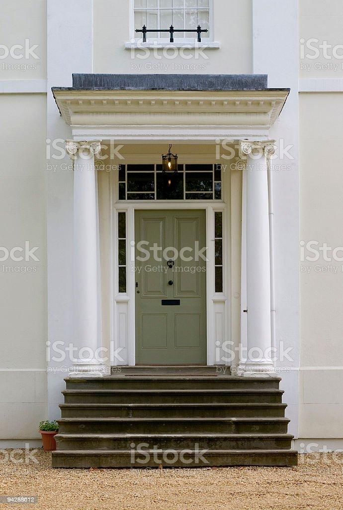 Olive green door royalty-free stock photo