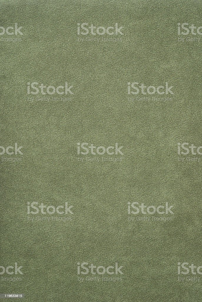Olive green mock suede fabric stock photo