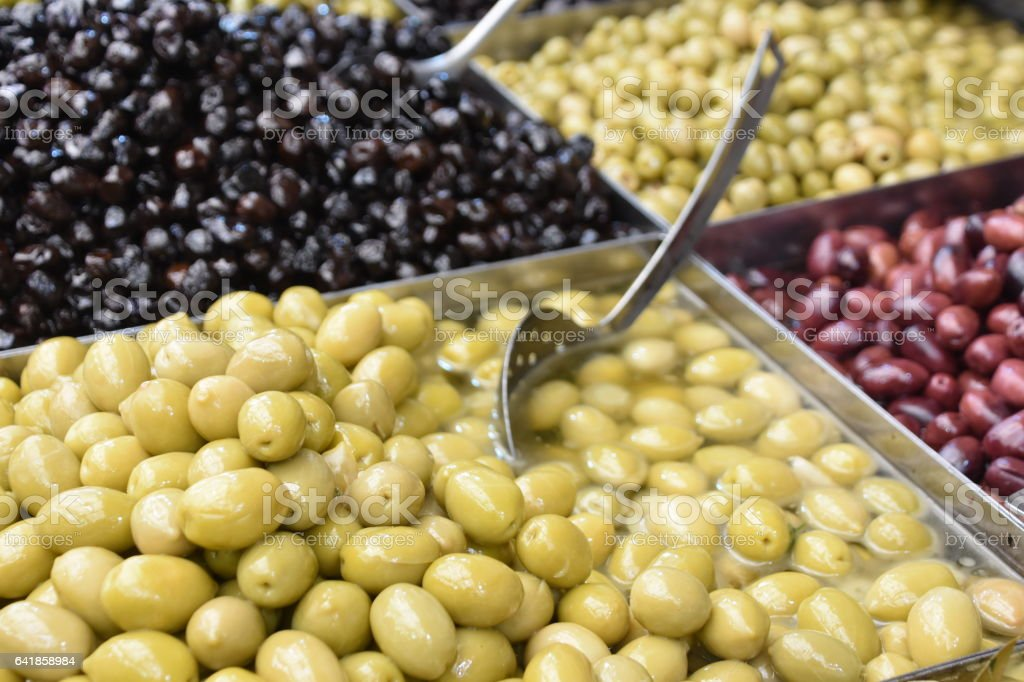 Olive in the market stock photo
