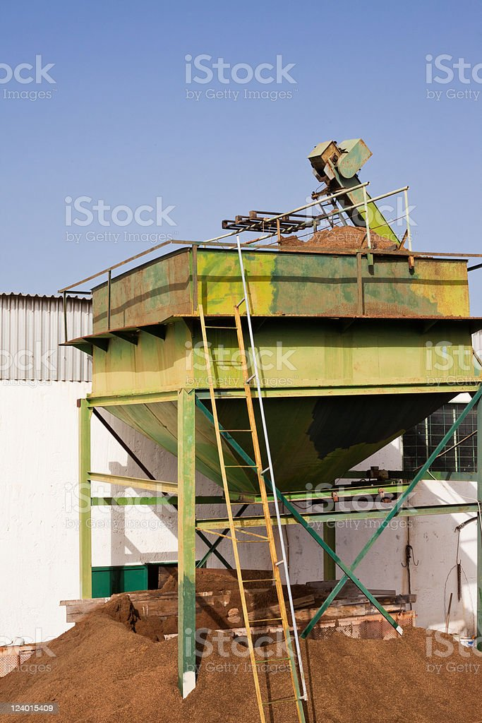 Olive Mill Waste: Orujo royalty-free stock photo