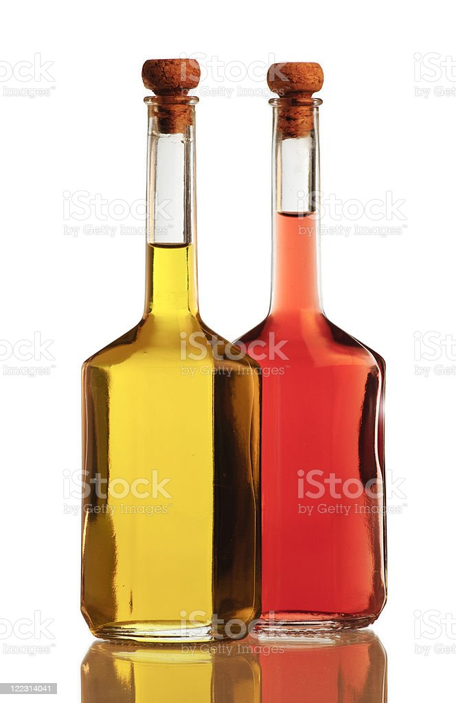 Olive oil and vinegar royalty-free stock photo