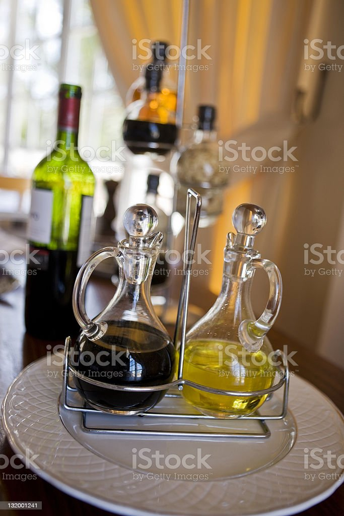 Olive oil and vinegar stock photo