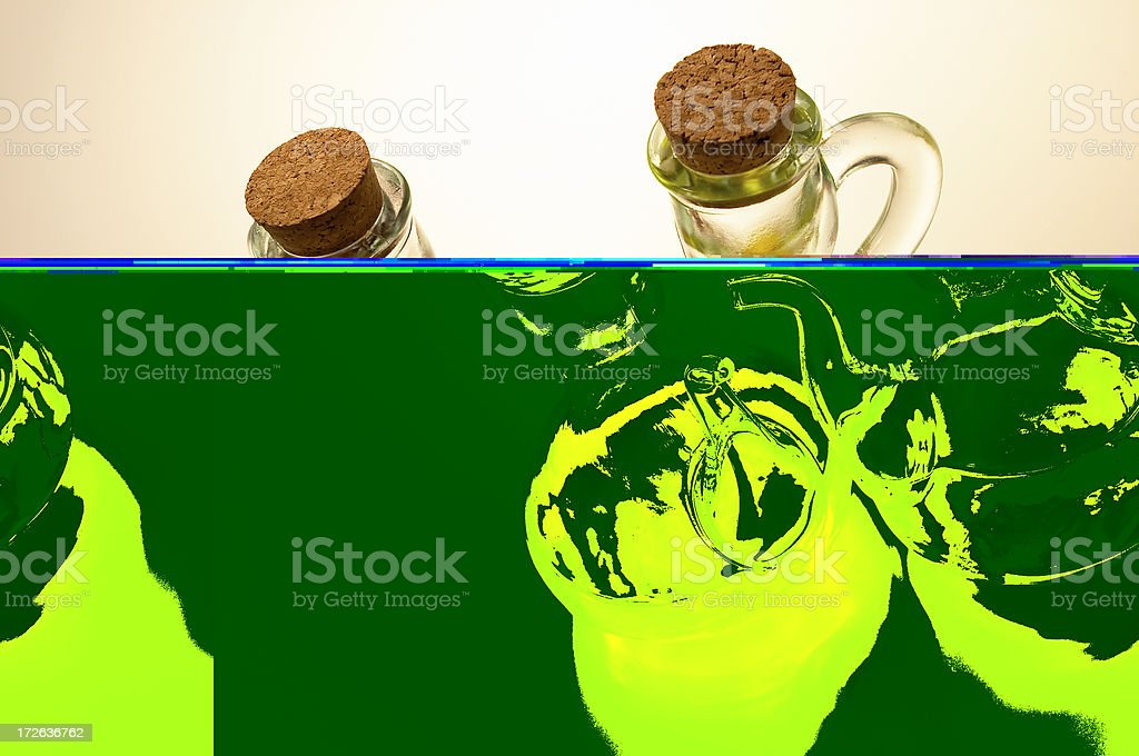 Olive Oil and Vinegare royalty-free stock photo
