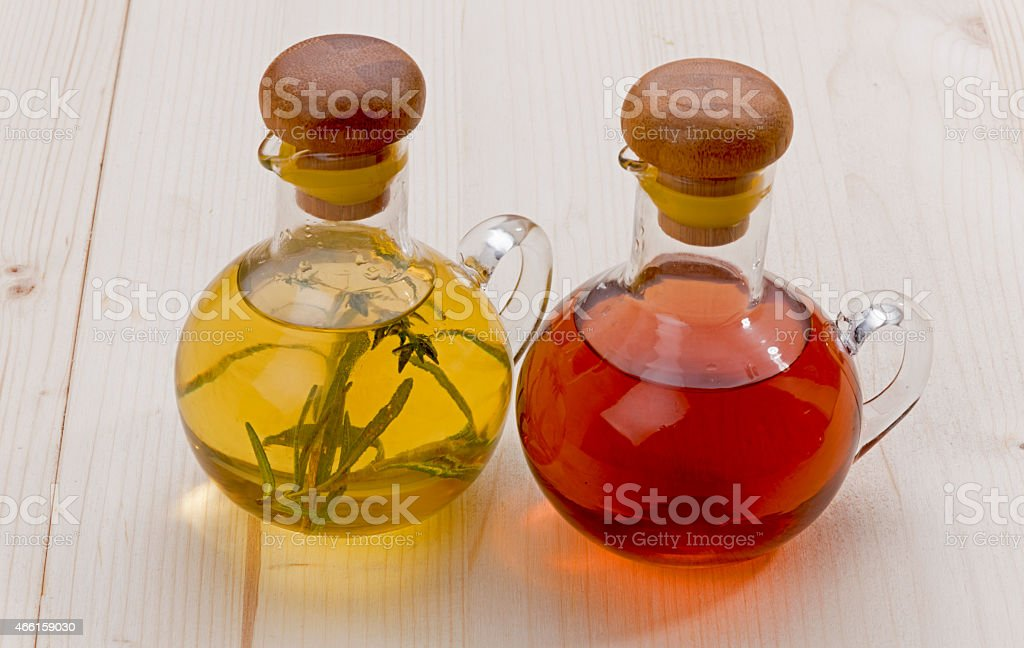 Olive Oil and Vinegare stock photo