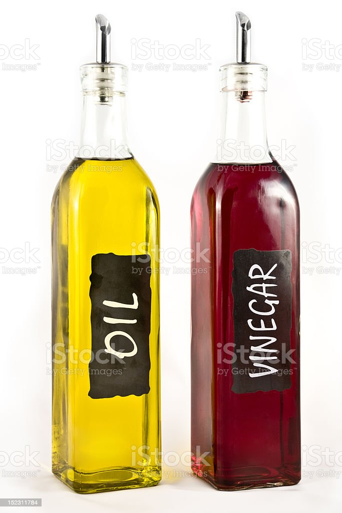 Olive Oil and Vinigar royalty-free stock photo