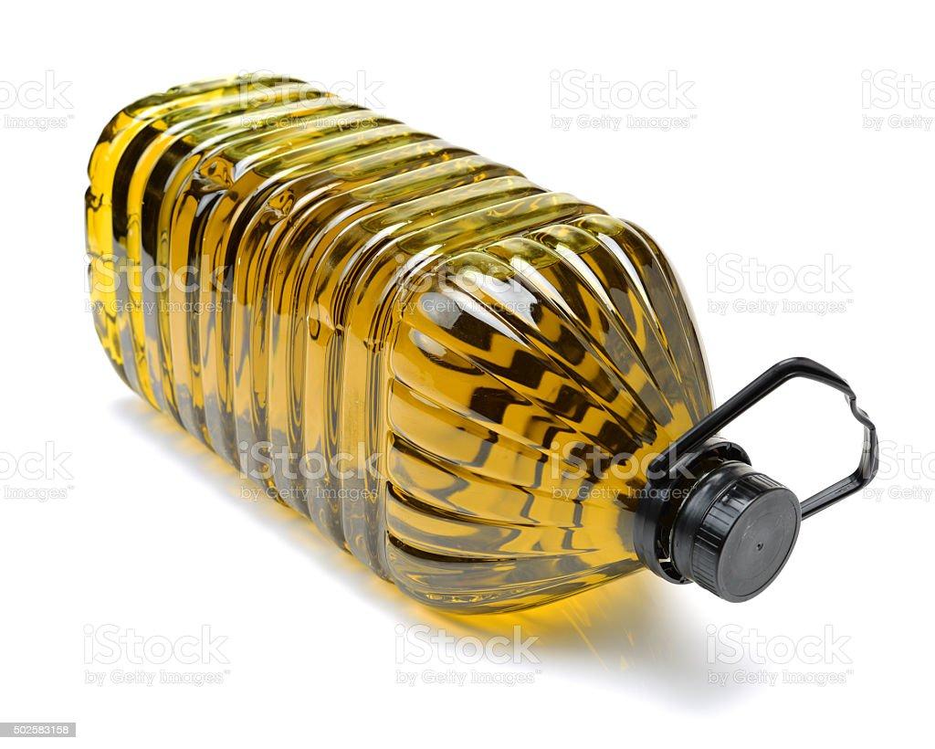 Olive oil bottles stock photo