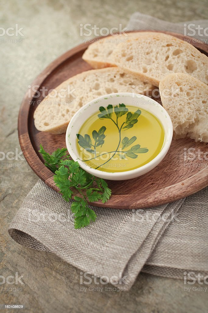 Olive Oil & bread royalty-free stock photo
