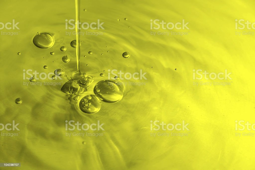 Olive Oil Bubbles royalty-free stock photo