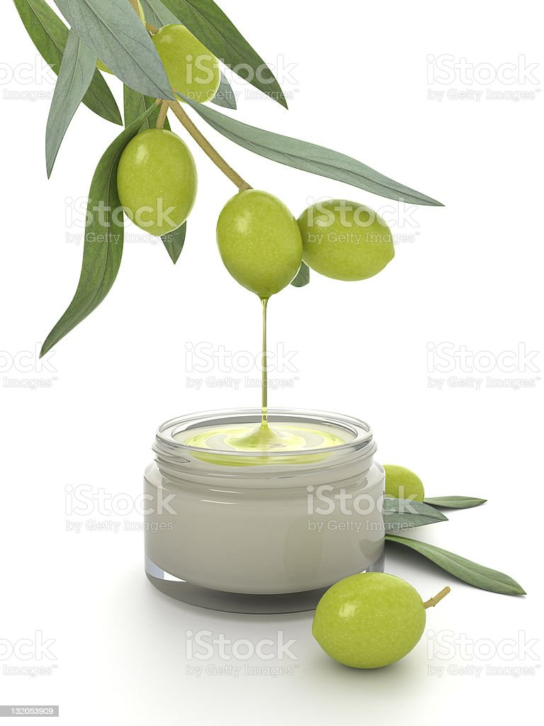Olive oil cosmetic. royalty-free stock photo
