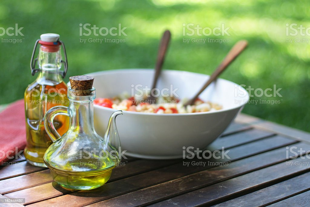 Olive oil for salad royalty-free stock photo