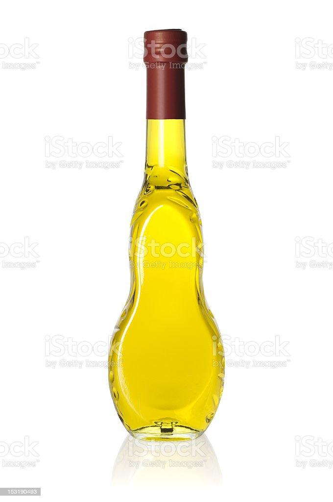 Olive oil glass bottle stock photo